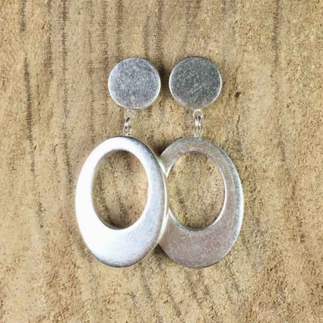 Sence Copenhagen Oval Harmony Silver Stud Earrings