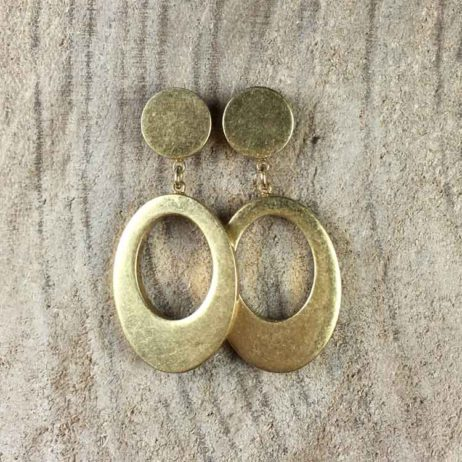 Sence Copenhagen Oval Harmony Gold Stud Earrings - eol