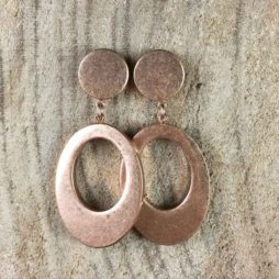 Sence Copenhagen Oval Harmony Rose Gold Stud Earrings