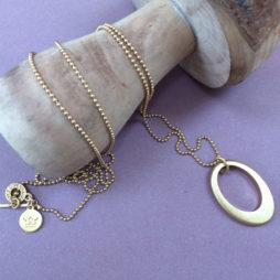 Sence Copenhagen Oval Harmony Long Silver Necklace