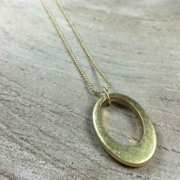 Sence Copenhagen Oval Harmony Long Gold Necklace