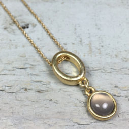 Sence Copenhagen High Sky Grey Agate Gold Necklace