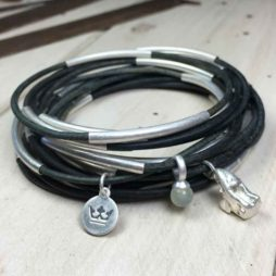 Sence Copenhagen Urban Gipsy Vintage Green Leather Silver Bracelet