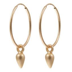 Sence Copenhagen Xmas Gold Plated Hoop Drop Earrings