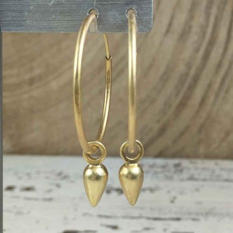 Sence Copenhagen Xmas Gold Plated Hoop Drop Earrings