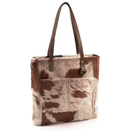 Hot Tomato Victory Cowhide Tote Bag
