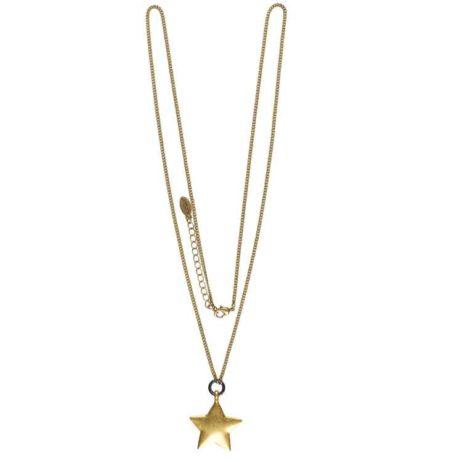 Hultquist Long Necklace with Gold Star Pendant