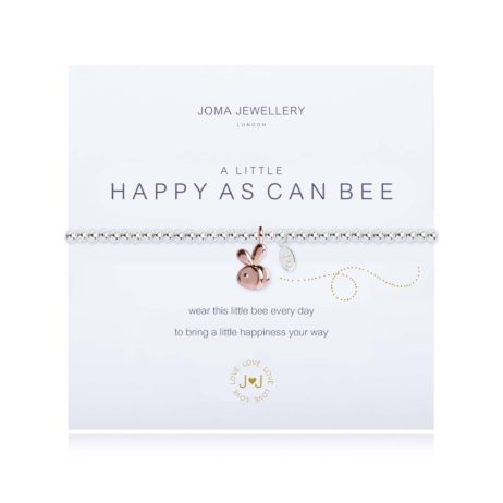 Joma Jewellery a little Happy As Can Bee Bracelet Silver & Rose Gold 1827