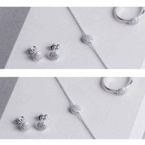 Forever Joma The Fine Sterling Silver Pave Disc Earrings
