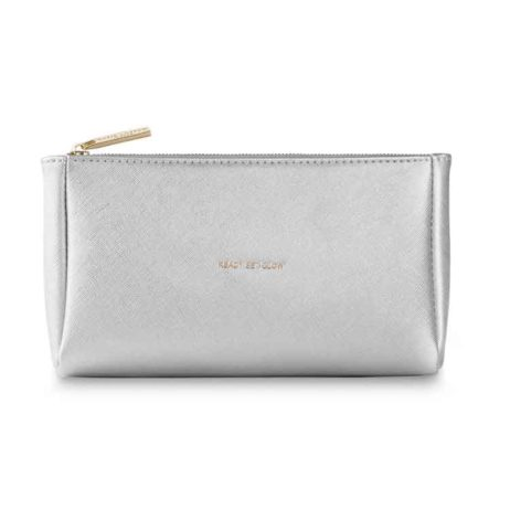 Katie Loxton Silver Metallic Ready Set Glow Make Up Bag