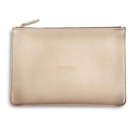 Katie Loxton Metallic Gold Good As Gold Perfect Pouch