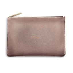 Katie Loxton Rose Pewter Be Brilliant Perfect Pouch KLB043