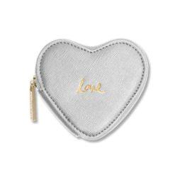 Katie Loxton Silver Love Heart Coin Purse