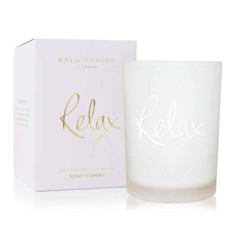 Katie Loxton RELAX Candle Cotton and Jasmine