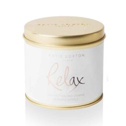Katie Loxton Relax Round Tin Candle Cotton and Jasmine
