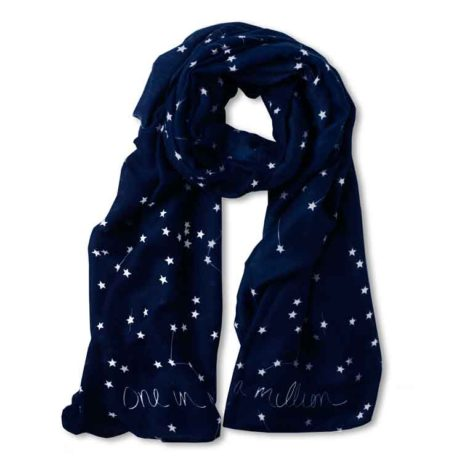 Katie Loxton Navy Blue One In A Million Herringbone Scarf