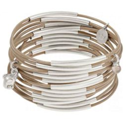 Sence Copenhagen Urban Gipsy Bracelet Taupe with Silver