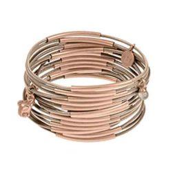 Sence Copenhagen Urban Gipsy Bracelet Taupe with Rose Gold