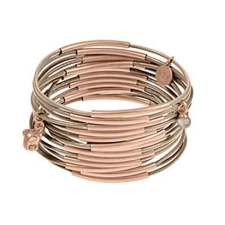 Sence Copenhagen Urban Gipsy Bracelet Taupe with Rose Gold