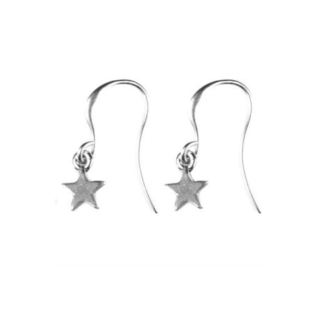 Hultquist Jewellery Mini Silver Star Drop Earrings