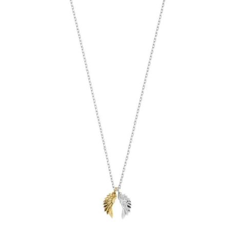 Estella Bartlett Silver and Gold Plated Wings Pendant Necklace