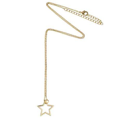 Estella Bartlett Gold Plated Open Star Necklace