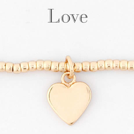 Estella Bartlett Louise Bracelet Gold Plated with Gold Heart Charm