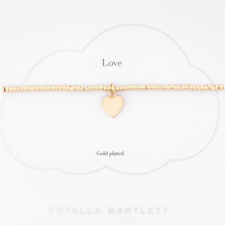 Estella Bartlett Louise Bracelet Gold Plated with Gold Heart Charm - EOL