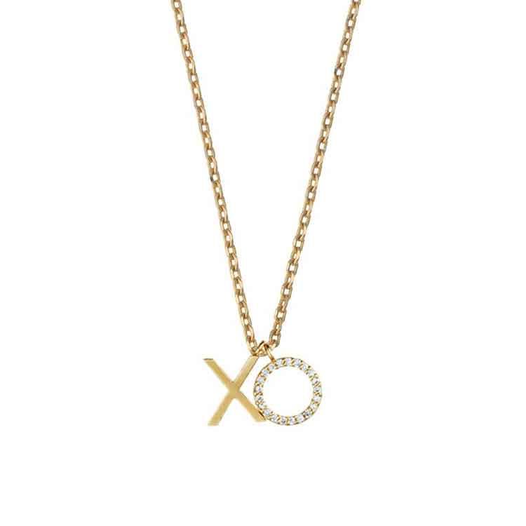 estella bartlett gold plated xo necklace lizzielane