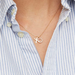 Estella Bartlett Gold Plated XO Necklace