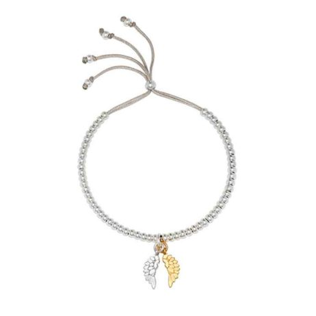 Estella Bartlett Silver and Gold Plated Wings Bracelet