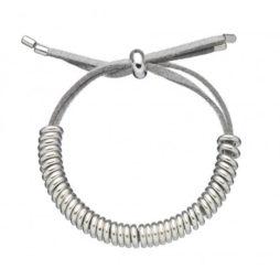 Estella Bartlett Anna Grey Suede Silver Plated Bracelet