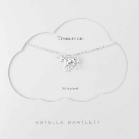 Estella Bartlett Unicorn Silver Plated Necklace