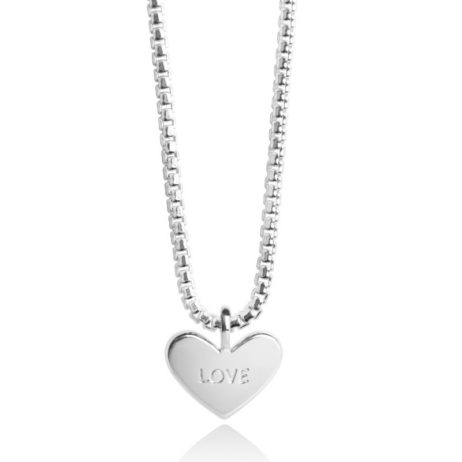Forever Joma The Core Sterling Silver Pave Heart Necklace