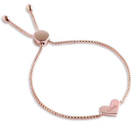 Forever Joma The Core Rose Gold Pave Heart Friendship Bracelet