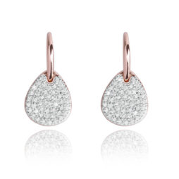 Forever Joma The Core Rose Gold Pave Drop Earrings