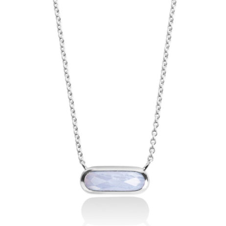 Forever Joma The Rare Blue Chalcedony Sterling Silver Necklace
