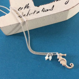 Hultquist Jewellery Silver Seahorse Short Necklace