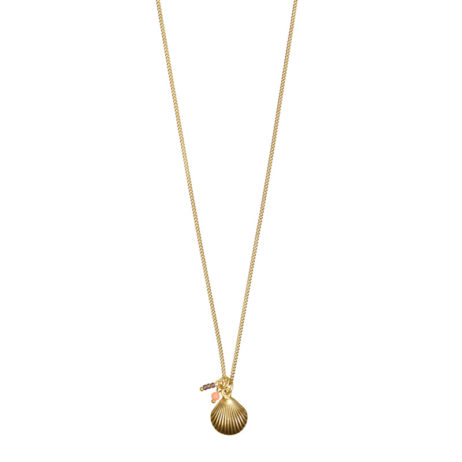 Hultquist Jewellery Seashell Short Gold Necklace