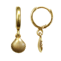 Hultquist Jewellery Seashell Gold Earrings