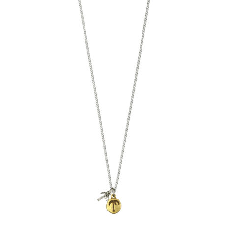 Hultquist Jewellery Palm Tree and Pineapple Bi Colour Necklace