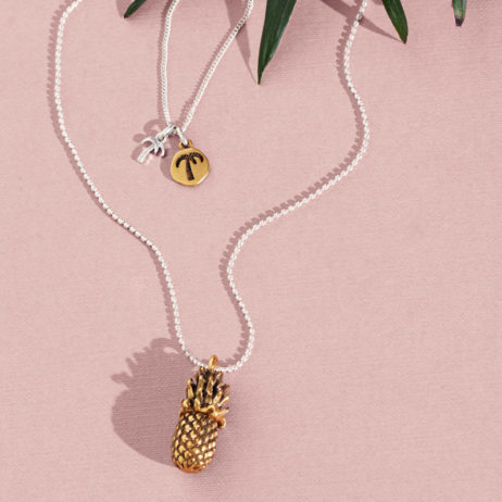 Hultquist Jewellery Bi Colour Pineapple Long Necklace