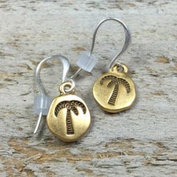 Hultquist Jewellery Palm Tree and Pineapple Bi Colour Earrings
