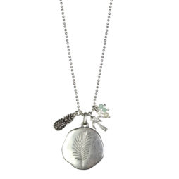 Hultquist Jewellery Palm Tree and Pineapple Long Silver Necklace
