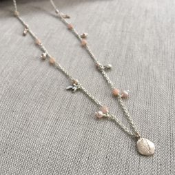 Hultquist Jewellery Palm Tree and Pineapple Long Rose Gold Necklace