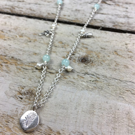 Hultquist Jewellery Palm Tree and Pineapple Long Silver Necklace - EOL