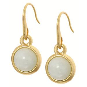 Sence Copenhagen Signature Aquamarine Worn Gold Earrings