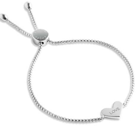 Forever Joma The Core Sterling Silver Pave Heart Bracelet