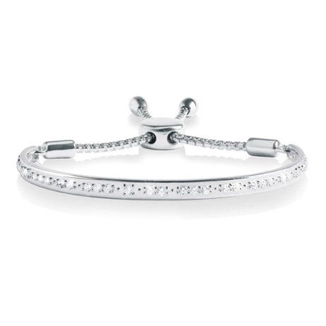 Forever Joma The Halo Pave Sterling Silver Friendship Bangle