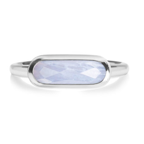 Forever Joma The Rare Blue Chalcedony Sterling Silver Ring